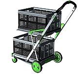 Transport-Klappmobil Clax Green Edition 1 Klappmobil mit 2 Clax Faltboxen, klappbar