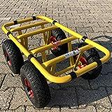Ravendo Plattenwagen Transportwagen Dolly 4 Rad 300 Kg TD 300-4W Schwerlast Lasten Karre Transportkarre Luftreifen Made in Europe